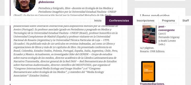 (Português do Brasil) Pesquisador do PPGCOM realiza conferência em Congresso de Ciberjornalismo na Argentina